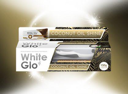 White Glo Coconut Oil shine