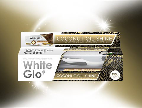 White Glo Coconut Oil shine
